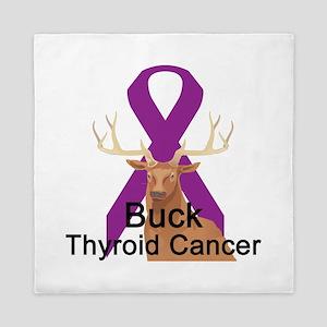 buck-thyroid-cancer Queen Duvet