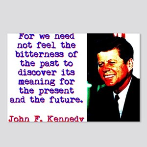 For We Need Not Feel - John Kennedy Postcards (Pac