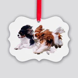 Lily & Rosie, Running Picture Ornament