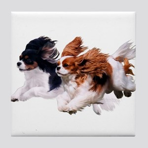 Lily & Rosie, Running Tile Coaster