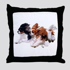 Lily & Rosie, Running Throw Pillow