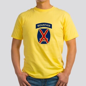10th MOUNTAIN DIVISION Yellow T-Shirt