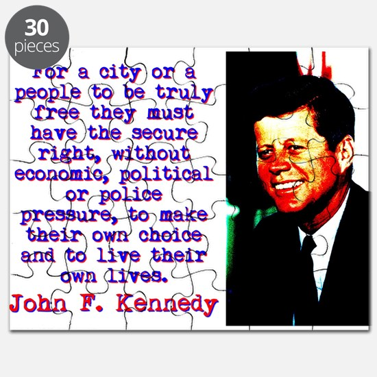 For A City Or A People - John Kennedy Puzzle