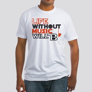 B flat Fitted T-Shirt