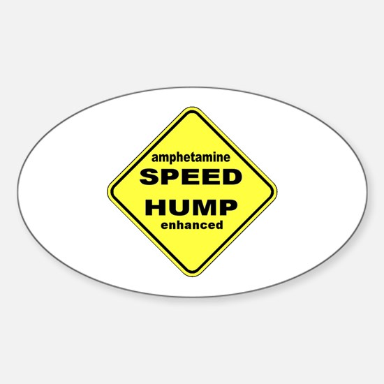 SPEED HUMP Oval Decal