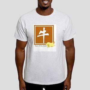 Chinese Ox Zodiac Ash Grey T-Shirt
