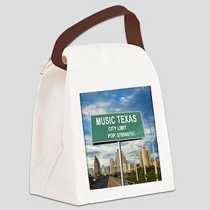 """Austin """"Music"""" Texas Canvas Lunch Bag"""