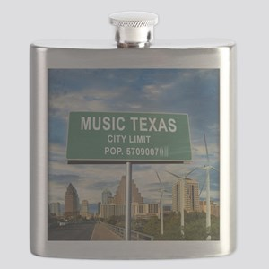 "Austin ""Music"" Texas Flask"