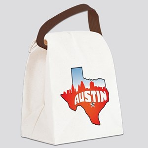 Austin Texas Skyline Canvas Lunch Bag