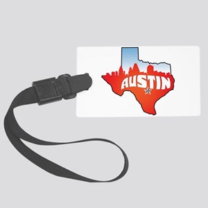 Austin Texas Skyline Large Luggage Tag