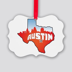 Austin Texas Skyline Picture Ornament