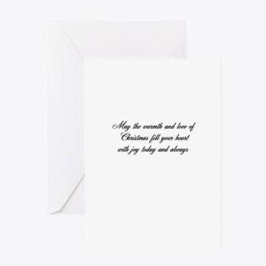 (A)May the warmth-inside card Greeting Cards