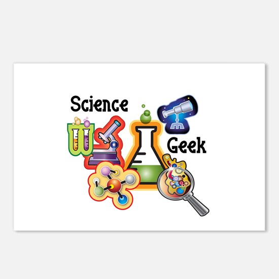 Science Geek Postcards (Package of 8)