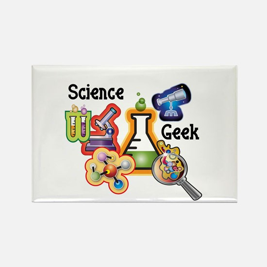 Science Geek Rectangle Magnet