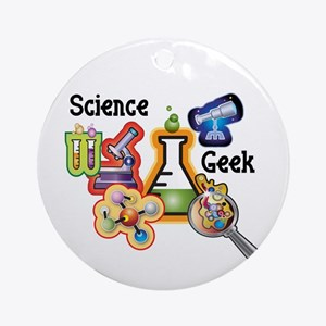 Science Geek Ornament (Round)