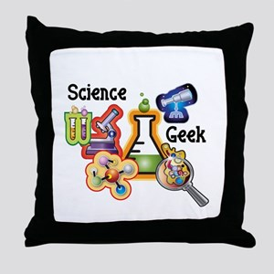 Science Geek Throw Pillow
