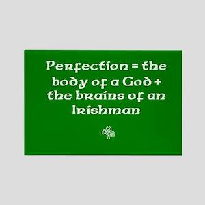 Perfection = body of God, brains of Irishman Recta