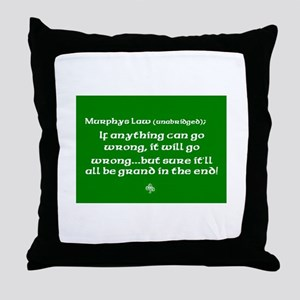 Murphys Law Throw Pillow