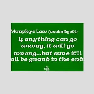 Murphys Law Rectangle Magnet