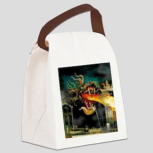 Mutant Dragon Canvas Lunch Bag
