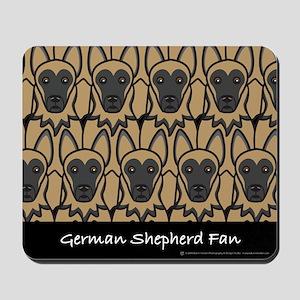 German Shepherd Fan Mousepad