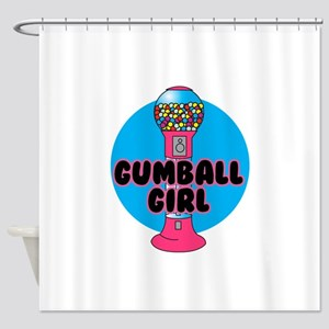 gumnall girl Shower Curtain