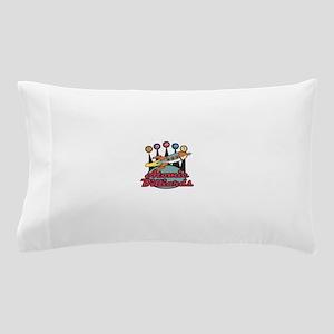 retro-poolhall3 Pillow Case
