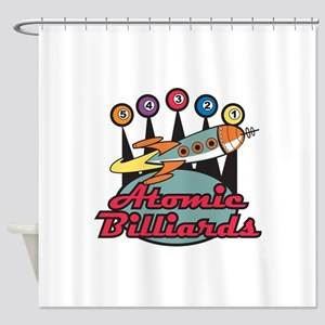 retro-poolhall3 Shower Curtain