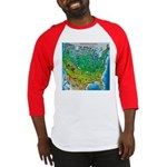 USA Map TEE Baseball Jersey