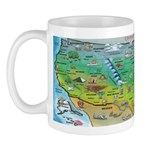 USA Map MUG Mugs