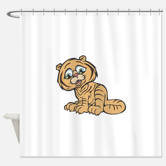 baby tiger copy.jpg Shower Curtain