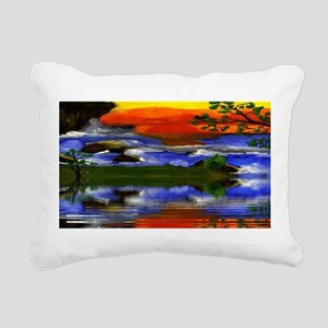 Raging Ocean Waters Rectangular Canvas Pillow