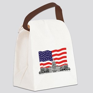US Capitol Building Canvas Lunch Bag