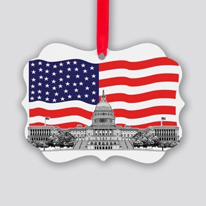 US Capitol Building Picture Ornament