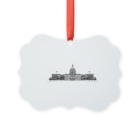 U.S. Capitol Building Art Picture Ornament