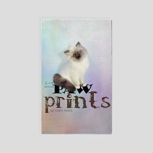 Brown / White Birman Cat 3'x5' Area Rug