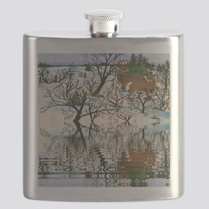 Farm Deer Reflection Flask
