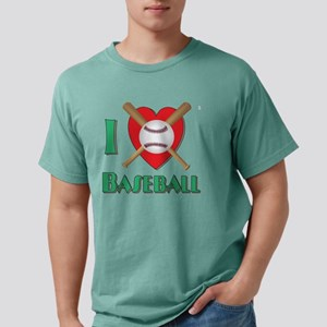 I Love Baseball Mens Comfort Colors Shirt