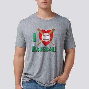 I Love Baseball Mens Tri-blend T-Shirt