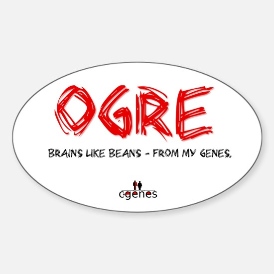 Ogre Genes Oval Decal