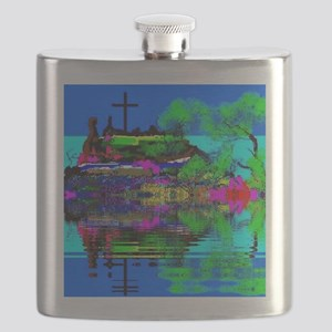 Christian Cross Flask