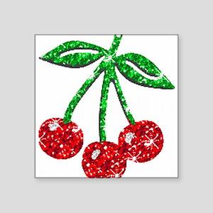 Sparkling Cherries Rectangle Sticker