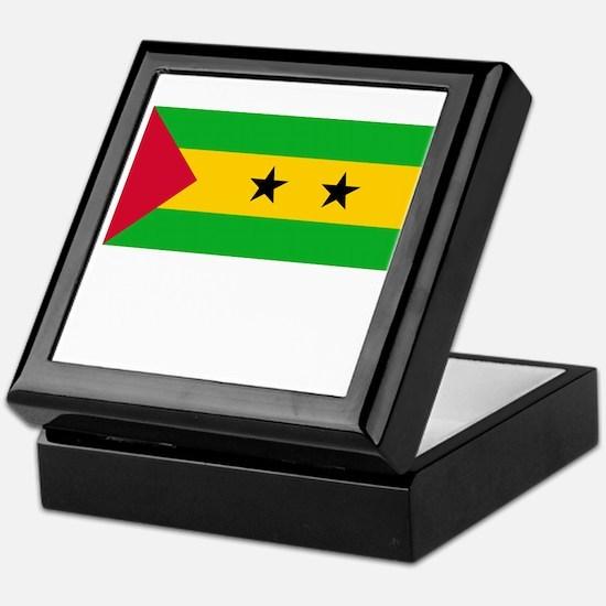 Sao Tome & Principe Flag Picture Keepsake Box