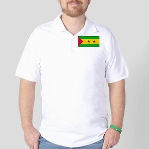 Sao Tome & Principe Flag Picture Golf Shirt