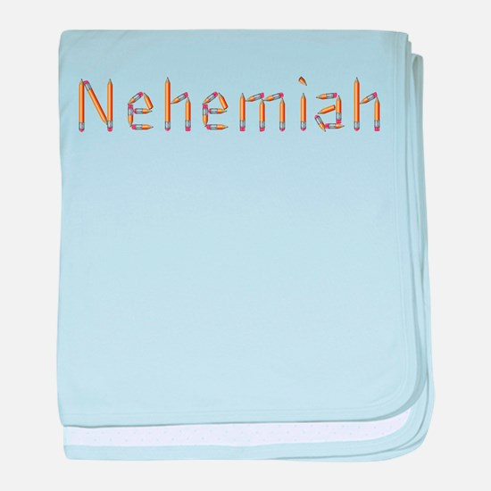 Nehemiah Pencils baby blanket