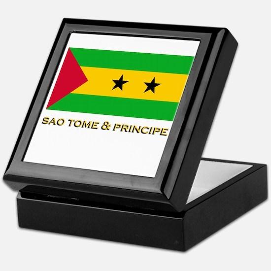 Sao Tome & Principe Flag Stuff Keepsake Box