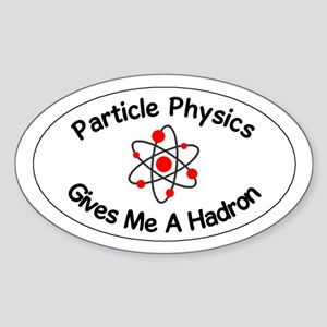 Particle Physics Oval Sticker
