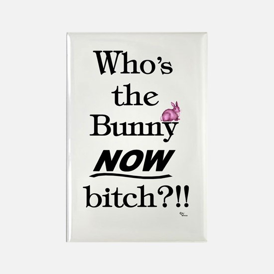 Who's the Bunny Rectangle Magnet