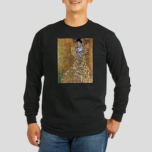 Adele Gustav Klimt Long Sleeve Dark T-Shirt