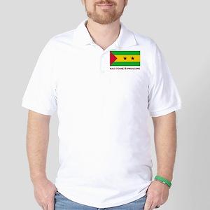 Sao Tome & Principe Flag Gear Golf Shirt